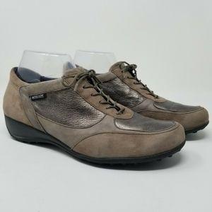 Mephisto Runoff Women's Brown Metallic Sneakers